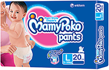 Mamy Poko Pants Pant Style Diapers Large - 20 Pieces