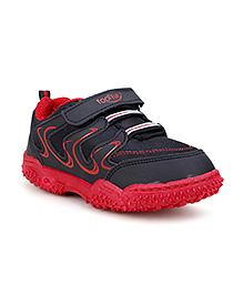 Footfun Casual Shoes Velcro Closure - Black & Red
