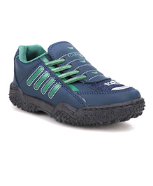 Footfun Casual Shoes Dual Color - Navy & Green