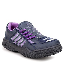 Footfun Casual Shoes Dual Color - Navy & Purple
