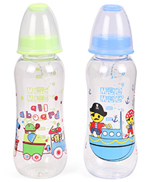 Mee Mee Feeding Bottles Pack Of 2 Green Blue - 250 Ml