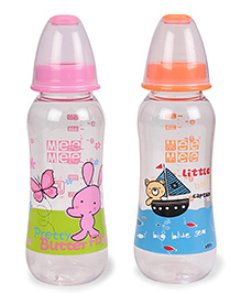 Mee Mee Feeding Bottles Pack Of 2 Pink Orange - 250 Ml