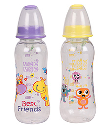 Mee Mee Feeding Bottles Pack Of 2 Purple Yellow - 250 Ml