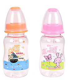 Mee Mee Feeding Bottle Pack Of 2 Pink Orange - 150 Ml