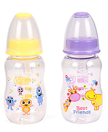 Mee Mee Feeding Bottle Pack Of 2 Yellow Purple - 150 Ml