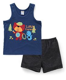 Super Baby Little Explorers Vest & Shorts Set - Teal Blue & Black
