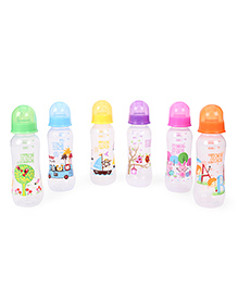 Mee Mee Feeding Bottle Pack Of 6 Multi Color - 250 Ml