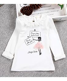 Aww Hunnie Cute Baby Autumn Top - White
