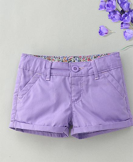 Hallo Heidi Stylish Shorts - Purple
