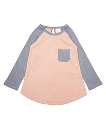Orgaknit Organic Cotton Two Colour Comfy Top - Peach & Grey