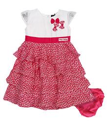 Bella Moda Layered Dress With Bloomers - Pink & White