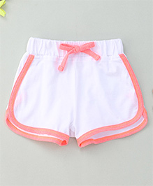 Hallo Heidi Stylish Dual Colored Shorts - White