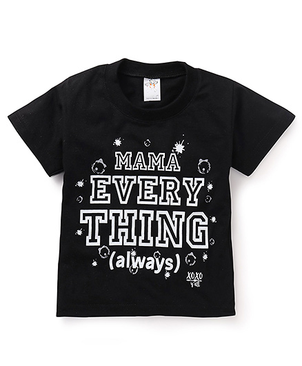 Hippo&Son Mama Everything Printed Print T-Shirt - Black