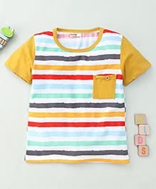 Bee Bee Stripe Print T-Shirt - Multicolour