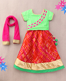 Sorbet Lehenga Choli Set With Embroidery - Pink