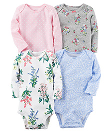 Carter's 4-Pack Long-Sleeve Bodysuits - Multi Color