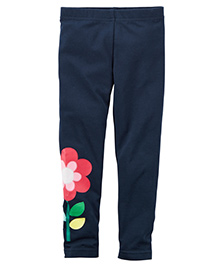 Carter's Flower Leggings - Navy Blue
