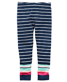 Carter's Striped Leggings - Navy Blue
