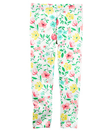 Carter's Floral Leggings - White