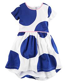 Carter's Polka Dot Dress - White & Blue