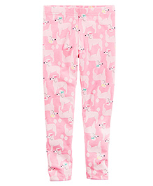 Carter's Poodle Leggings - Pink