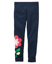 Carter's Flower Leggings - Navy Blue