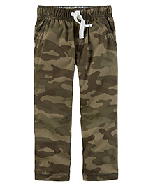 Carter's Full Length Pants With Drawstring - Green Brown