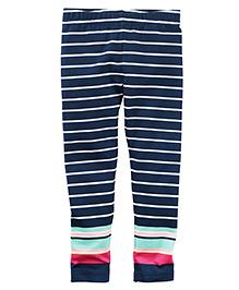 Carter's Striped Leggings - Navy Blue