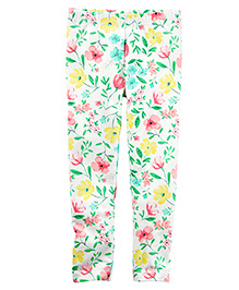 Carter's Floral Leggings - White