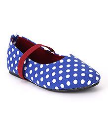 Bee Bee Polka Dot Print Baby Shoes - Blue