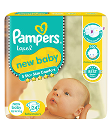 Pampers New Baby Diaper New Born - 24 Pieces
