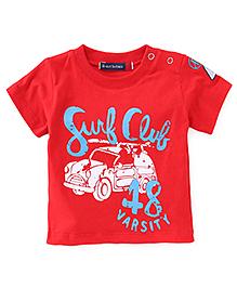 Great Babies Surf Club Print T-Shirt - Red
