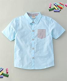 Bee Bee Collar Shirt - Blue