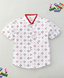 Bee Bee Anchor Print T-Shirt - White