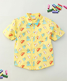 Bee Bee Car Print Shirt - Yellow