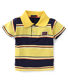 Great Babies Half Sleeves Striped T-Shirt - Yellow