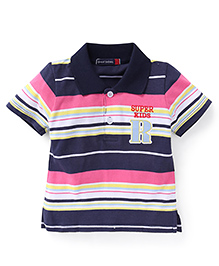 Great Babies Super Kids Striped T-Shirt - Navy Blue