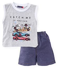 Great Babies Sports Car Print Tee & Shorts Set - Grey