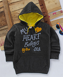 Eimoie My Heart Belongs By The Sea Hooded Jacket - Grey