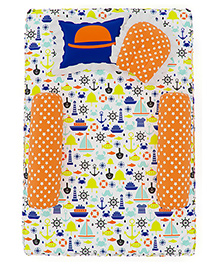 Fancy Fluff 4 Piece Premium Baby Mattress Set Little Man Design - Multicolor
