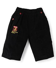 Olio Kids Casual Corduroy Shorts - Black