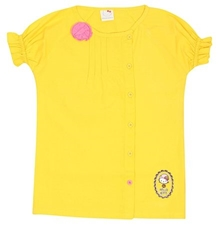 Hello Kitty - Short Sleeves Top Yellow