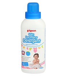 Pigeon Baby Laundry Detergent Bottle - 600 Ml - Formulated To Wash Baby Wear And Diapers To Remove Milk
