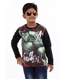 Marvel Full Sleeves T-Shirt Hulk Print - Black