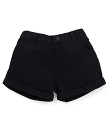 Gini & Jony Plain Shorts - Caviar Black