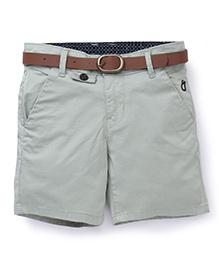Gini & Jony Plain Shorts With Belt - Grey