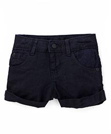 Gini & Jony Plain Shorts - Caviar Balck