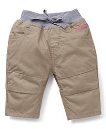 Gini & Jony Solid Color Trouser - Beige