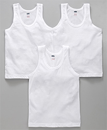 Simply Sleeveless Vest Set of 3 - White