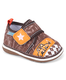 Bash Casual Shoes With Velcro Closure - Brown